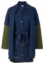 - Kenzo - Cardigan con fiocco - women - lana/alpaca/fibra sintetica - XS - di colore blu
