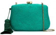 Serpui - straw clutch - women - Straw - OS - Verde