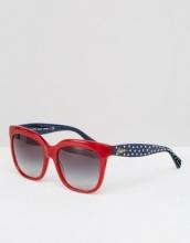 Ralph by Ralph Lauren - Occhiali da sole rossi con stanghette a pois