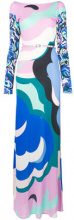 Emilio Pucci - boat neck long dress - women - Silk/Viscose - 38, 40, 42, 44 - PINK & PURPLE
