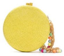 Serpui - straw clutch - women - Straw - OS - Giallo & arancio