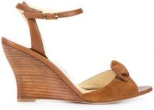 Sarah Flint - sandali con tacco a zeppa sagomato - women - Calf Leather - 35.5, 37, 39, 39.5, 42 - Marrone