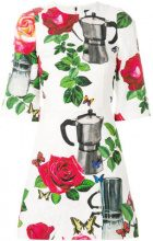 Dolce & Gabbana - coffee pot print brocade dress - women - Silk/Cotton/Spandex/Elastane/Viscose - 40 - MULTICOLOUR