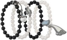 Camila Klein - pearl four-bracelets set - women - Metal (Other) - OS - METALLIC