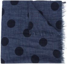 Destin - spotted scarf - women - Linen/Flax - OS - BLUE