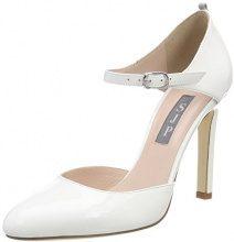 SJP by Sarah Jessica Parker Campbell, Scarpe con Cinturino alla Caviglia Donna, Bianco (White Patent), 40.5 EU