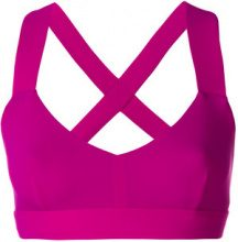 - No Ka' Oi - crossback sports bra - women - fibra sintetica - XS, S, M - di colore rosa