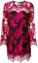 Just Cavalli - lace dress - women - Polyester - 40, 42, 44, 46 - PINK & PURPLE