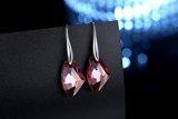 GoSparking Siam cristallo rosso 6656 19 millimetri Sterling Silver Orecchini con cristallo austriaco per le donne