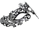 Coxeer Laser Cut Con Strass Colorati Metallo Steel Maschera Veneziana Maschera Halloween Principessa Abito da Sera di Ballo di Matrimonio Donne Ragazze
