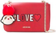 - Love Moschino - foldover Love shoulder bag - women - Leather - Taglia Unica - di colore rosso