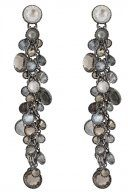 WATERFALLS - Orecchini - grey/brown antique silver