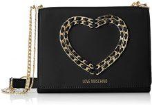 Love Moschino Borsa Vitello Bottalato Nero - Borse a spalla Donna, (Black), 6x17x22 cm (B x H T)