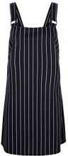 New Look Pinstripe Hardwear, Vestito Donna, Nero (Black Pattern 9), 40