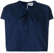 Carven - Blusa con scollo con nodo - women - Cotone - 34, 36, 38, 40 - Blu