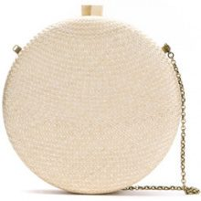 Serpui - straw clutch - women - Straw - OS - Color carne & neutri