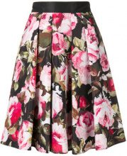- Liu Jo - floral print A - line skirt - women - Polyester - 38, 46 - Nero
