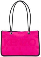 - Kenzo - embossed logo tote - women - fibra sintetica - Taglia Unica - di colore rosa
