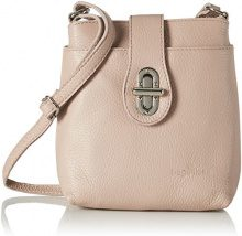 Bags4Less Rania - Borse a tracolla Donna, Pink (Nude), 8x21x20 cm (B x H T)