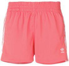 Adidas - Adidas Originals 3-Stripes shorts - women - Polyester - 38, 40, 42, 44, 46, 48 - PINK & PURPLE