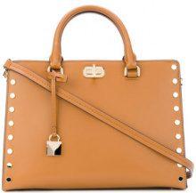 Michael Michael Kors - large Sylvie studded satchel - women - Leather - OS - Marrone