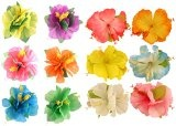 4 x Hawaiian Hibiscus Flower Hair Clips Hula Beach Fancy Dress Party Accessories by My Planet