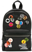 - Marc Jacobs - badge detail backpack - women - fibra sintetica - Taglia Unica - di colore nero