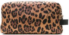 Dolce & Gabbana - leopard print make up bag - women - Nylon - OS - BROWN