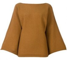 Sonia Rykiel - cashmere bell longsleeves knitted blouse - women - Cashmere - S - NUDE & NEUTRALS