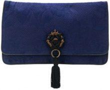 - Gianfranco Ferre Vintage - Clutch con nappina - women - pelle/cotone/fibra sintetica - Taglia Unica - di colore blu