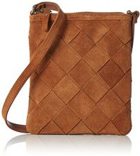 PIECES Pcsaggie Suede Cross Body, Borse a spalla Donna, Marrone (Cognac), 2x17x16 cm (L x H x D)