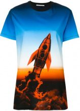 Marco De Vincenzo - T-shirt con stampa missile - women - Cotton - 42, 44, 40 - BLUE