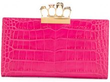 Alexander McQueen - Clutch Knuckle Duster - women - Calf Leather - One Size - PINK & PURPLE