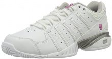K-Swiss Performance Receiver III, Scarpe da Tennis Donna, Bianco (White/Silver/Veryberry), 38 EU