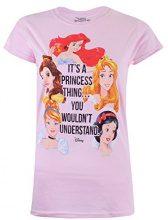 Disney Princess Thing, T-Shirt Donna, Rosa (Light Pink LTP), 46(Dimensioni Produttore: Large)