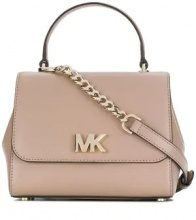 Michael Michael Kors - logo cross-body tote - women - Leather - One Size - NUDE & NEUTRALS