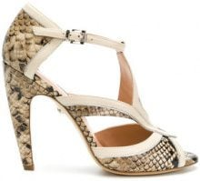 Just Cavalli - Sandali con effetto serpente - women - Leather - 35, 36, 38, 39 - Color carne & neutri