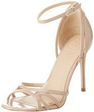 Guess Footwear Dress Sandal, Scarpe con Cinturino alla Caviglia Donna, Beige (Medium Natural), 37 EU