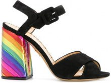 Charlotte Olympia - Emma sandals - women - Leather/Suede - 35, 35.5, 36, 36.5, 37, 37.5, 38, 38.5, 39, 39.5 - BLACK