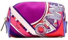 Emilio Pucci - abstract print makeup bag - women - Polyester - One Size - PINK & PURPLE
