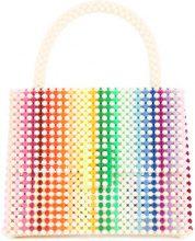 Delduca - rainbow patterned shoulder bag - women - Polystyrene - OS - MULTICOLOUR