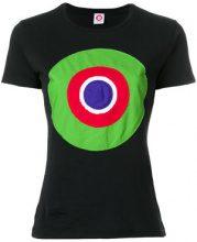 - Circled Be Different - T - shirt con applicazione multicolor - women - Cotone - M - Nero