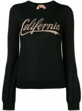 - Nº21 - printed crew neck sweater - women - lana - 40, 42, 44, 38 - di colore nero