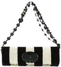 Giorgio Armani Vintage - Borsa con manico di perline bicolore - women - Leather/Velvet - OS - Nero