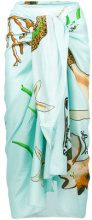 Loewe - x Paula`s Ibiza mermaid print sarong - women - Cotton - OS - BLUE