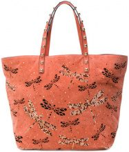 Red Valentino - dragonfly embellished tote - women - Leather - OS - PINK & PURPLE