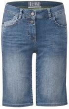 Cecil 371362 Scarlett Shorts, Bermuda Donna, Blu (Mid Blue Used Wash 10320), 38