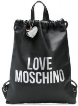 - Love Moschino - Love drawstring backpack - women - Leather - Taglia Unica - Nero