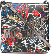Love Moschino - printed logo shoulder bag - women - Leather - OS - MULTICOLOUR