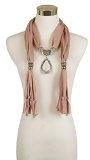 Lureme® Annata Colore solido stile bohemien con nappe di pietra vetro sciarpa collana -Marrone anti-argento (01003049)